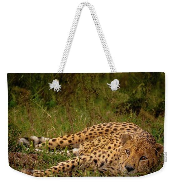 Cheetah Resting, Masai-mara Weekender Tote Bag