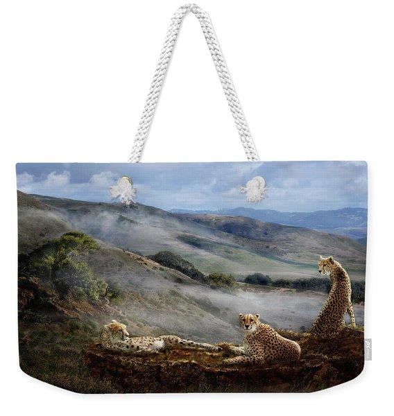 Cheetah Ridge Weekender Tote Bag