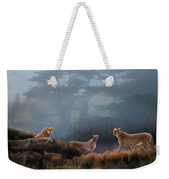 Cheetahs In The Mist Weekender Tote Bag