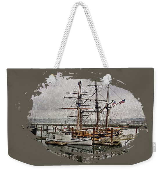 Chelsea Rose And Tall Ships Weekender Tote Bag