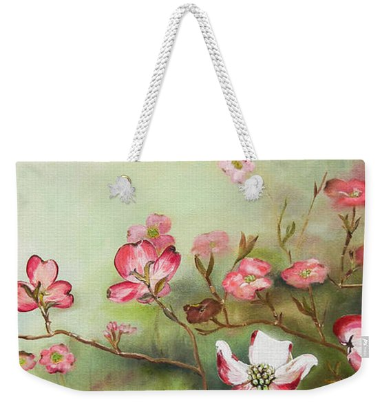 Cherokee Dogwood - Brave- Blushing Weekender Tote Bag