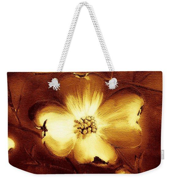 Cherokee Rose Dogwood - Single Glow Weekender Tote Bag