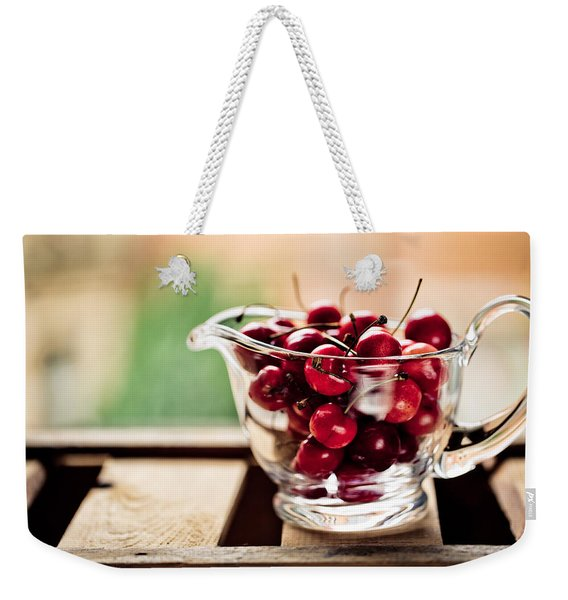 Cherries Weekender Tote Bag