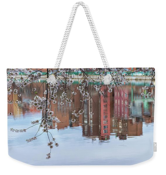 Cherry Blossom Reflections Weekender Tote Bag