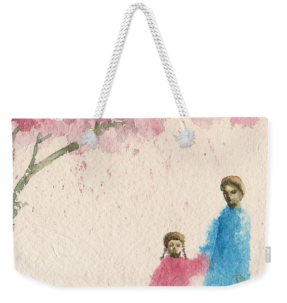 Cherry Blossom Tree Over The Bridge Weekender Tote Bag