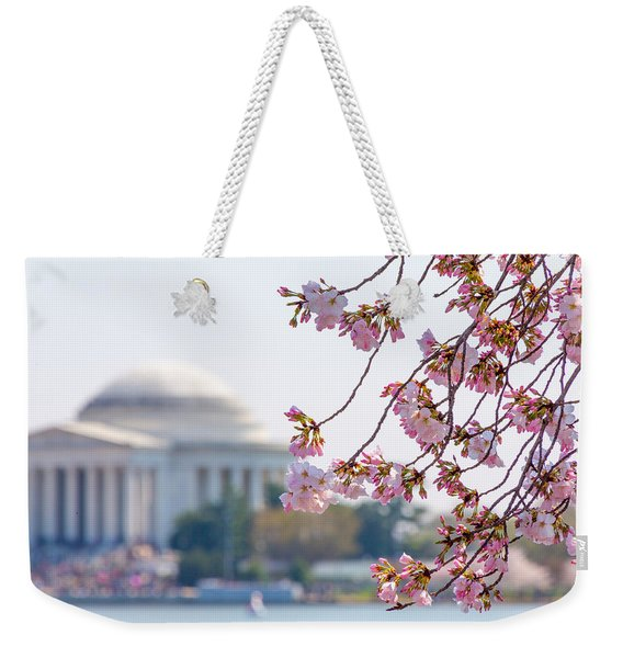 Cherry Blossoms And Jefferson Memorial Weekender Tote Bag