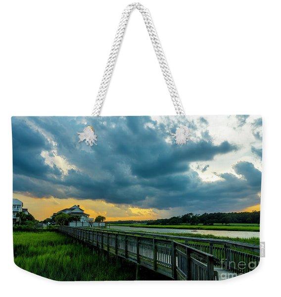 Cherry Grove Channel Marsh Weekender Tote Bag