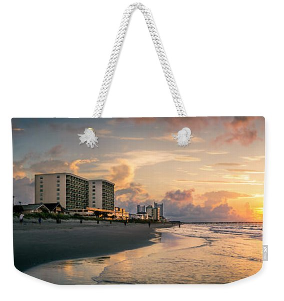 Cherry Grove Panoramic Sunrise Weekender Tote Bag