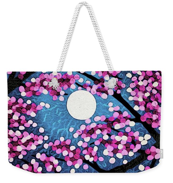 Cherry Ripple Sky Weekender Tote Bag