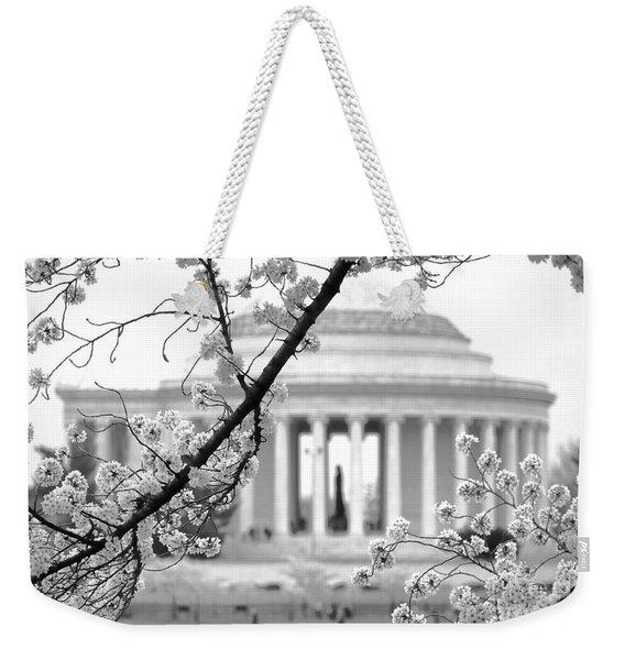 Cherry Tree And Jefferson Memorial Elegance  Weekender Tote Bag