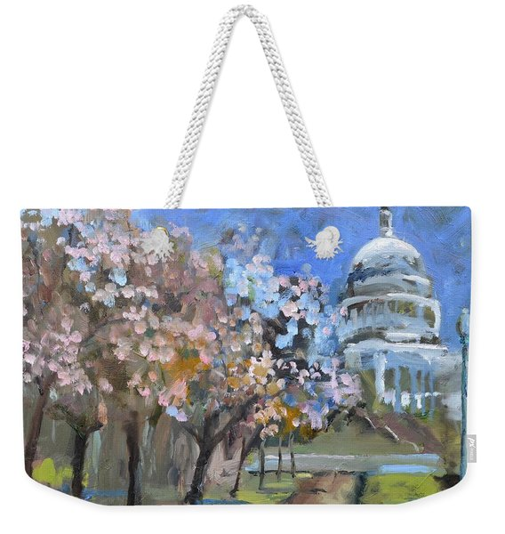 Cherry Tree Blossoms In Washington Dc Weekender Tote Bag
