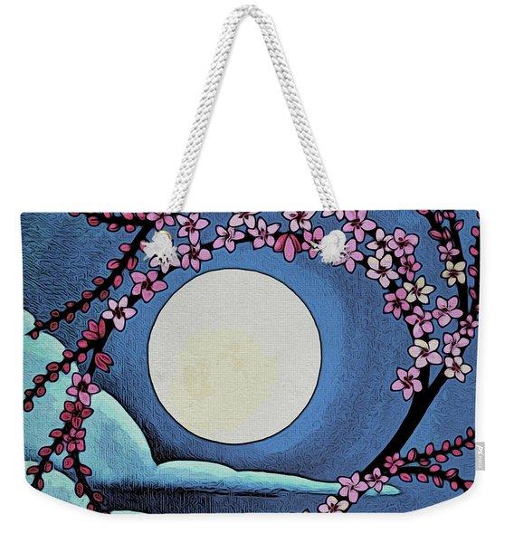 Cherry Whip Moon Weekender Tote Bag