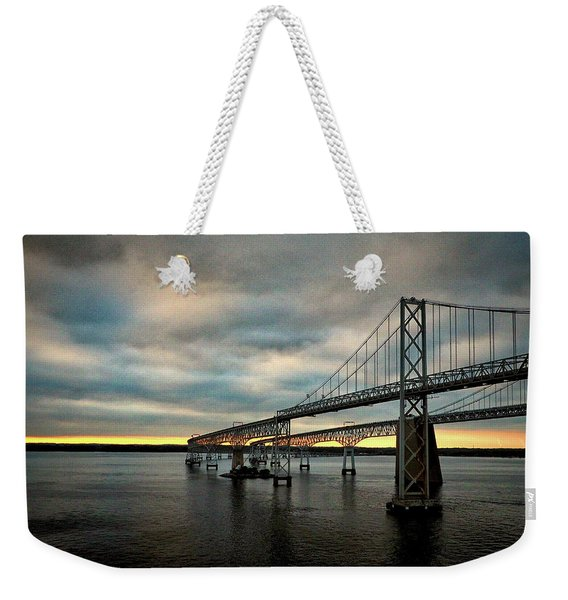 Chesapeake Bay Bridge At Twilight Weekender Tote Bag