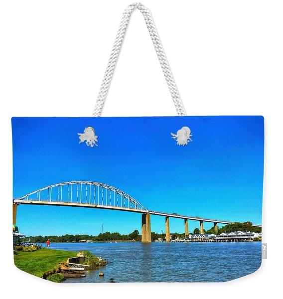 Chesapeake City Bridge  Weekender Tote Bag