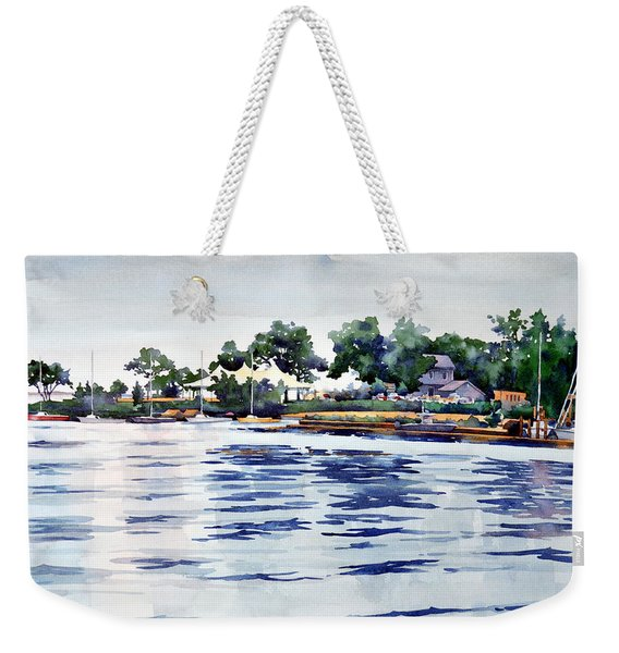 Chesapeake Rain Weekender Tote Bag