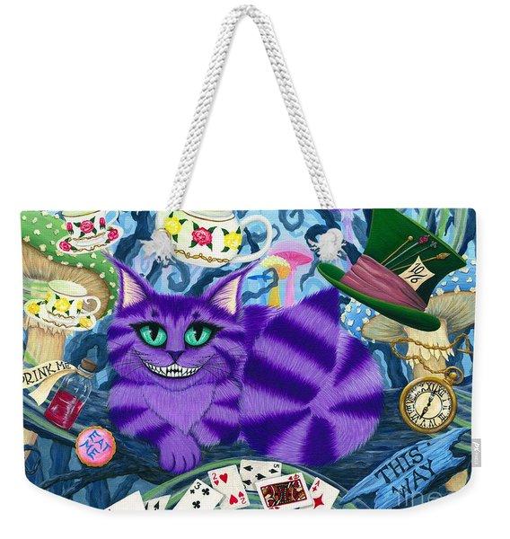 Cheshire Cat - Alice In Wonderland Weekender Tote Bag