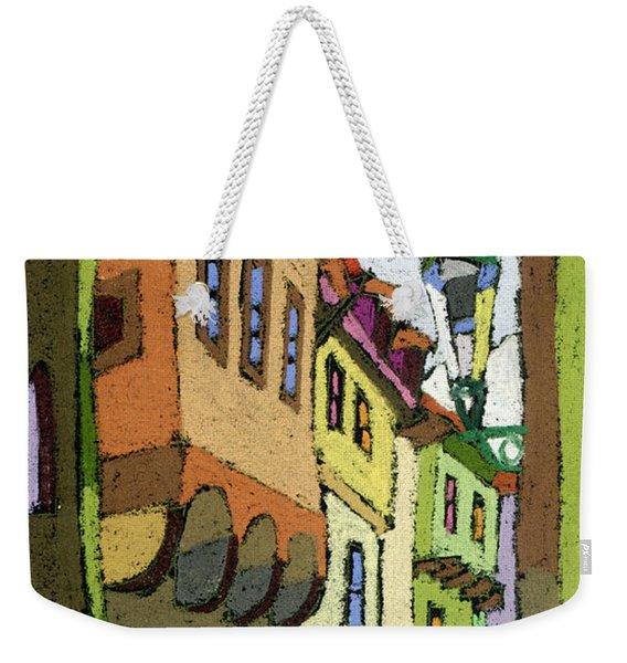 Chesky Krumlov Street Nove Mesto Weekender Tote Bag