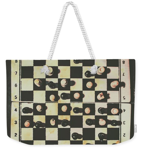 Chessboards And Playing Pieces Weekender Tote Bag
