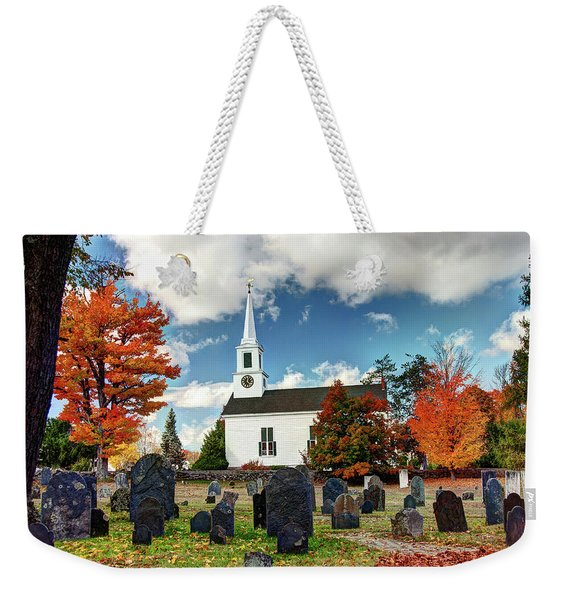 Chester Village Cemetery In Autumn Weekender Tote Bag