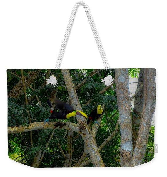 Chestnut-mandibled Toucans Weekender Tote Bag