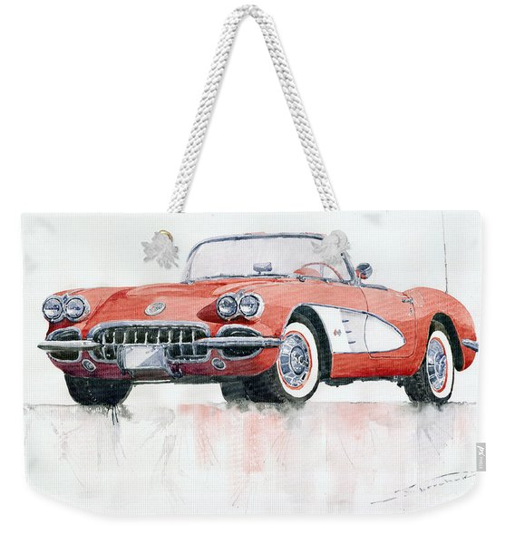 Chevrolet Corvette C1 1960  Weekender Tote Bag