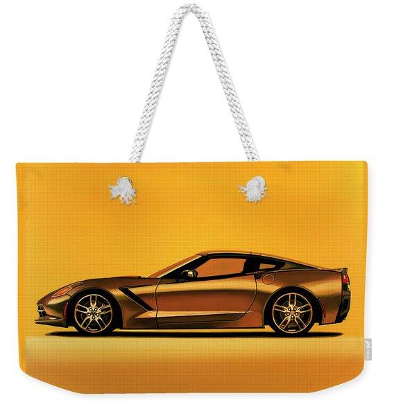 Chevrolet Corvette Stingray 2013 Painting Weekender Tote Bag