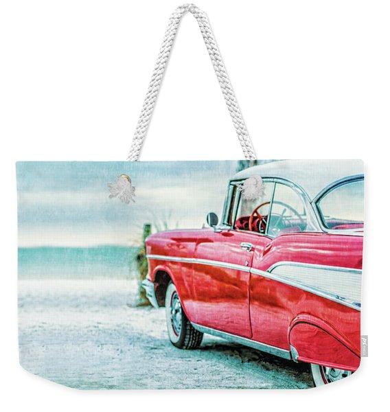 Chevy Belair At The Beach Mug Weekender Tote Bag
