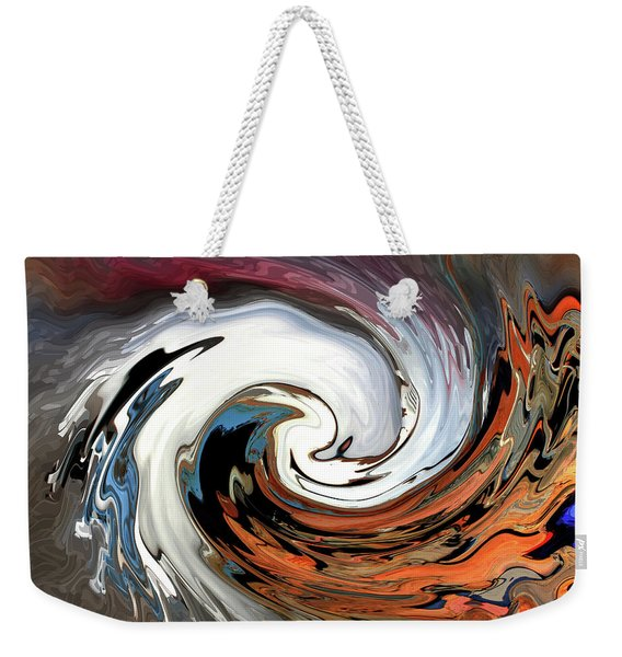 Weekender Tote Bag featuring the photograph Chevy On The Rez by Wayne King