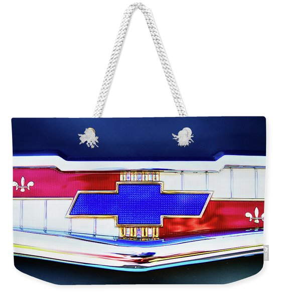 Chevy's Fifties Bowtie Weekender Tote Bag