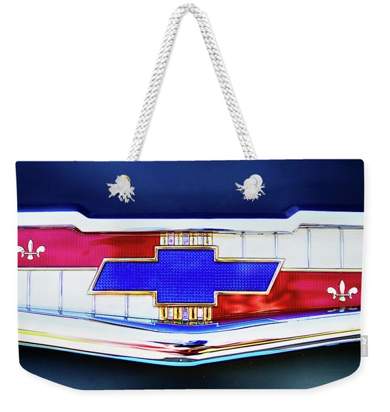 Chevy's Fifties Bowtie Weekender Tote Bag