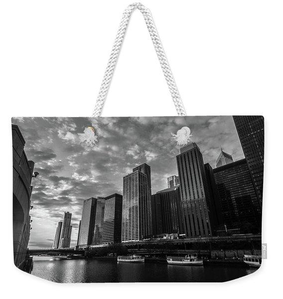 Chi Sunrise Black And White Weekender Tote Bag