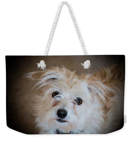Chica On The Alert Weekender Tote Bag