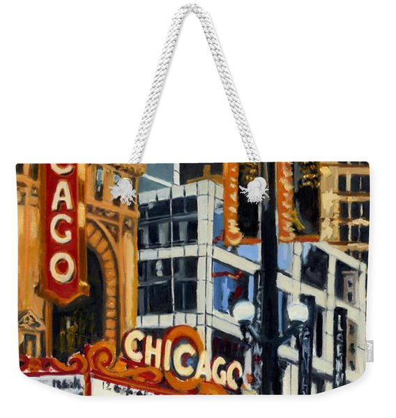 Chicago - The Chicago Theater Weekender Tote Bag