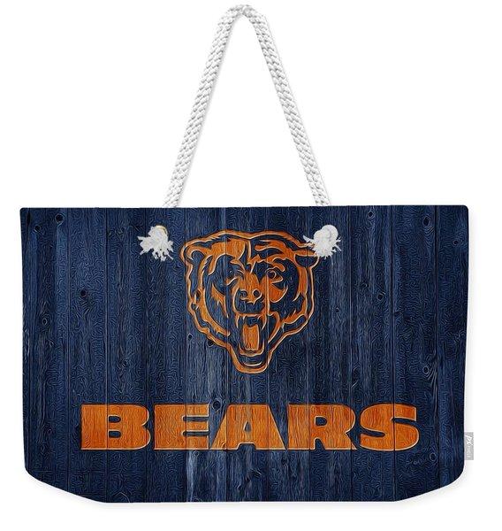 Chicago Bears Barn Door Weekender Tote Bag
