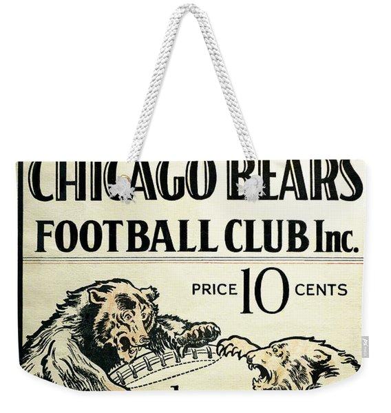 Chicago Bears Football Club Program Cover 1928 Weekender Tote Bag
