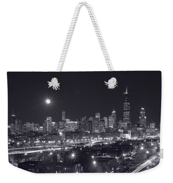 Chicago By Night Weekender Tote Bag