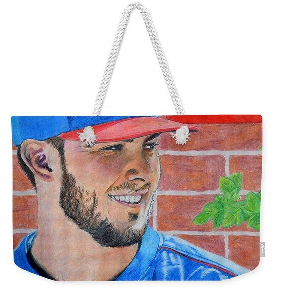 Chicago Cubs Kris Bryant Portrait Weekender Tote Bag