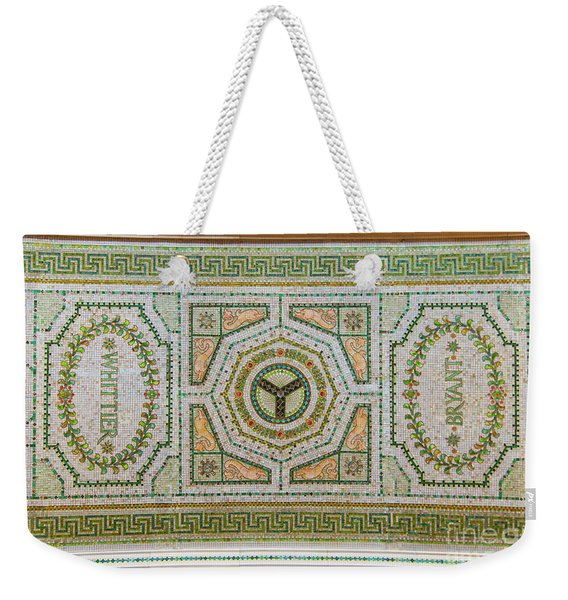 Chicago Cultural Center Ceiling With Y Symbol Weekender Tote Bag