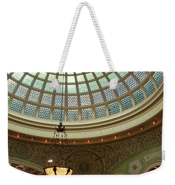 Chicago Cultural Center Dome Weekender Tote Bag