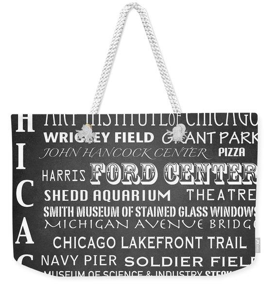 Chicago Famous Landmarks Weekender Tote Bag