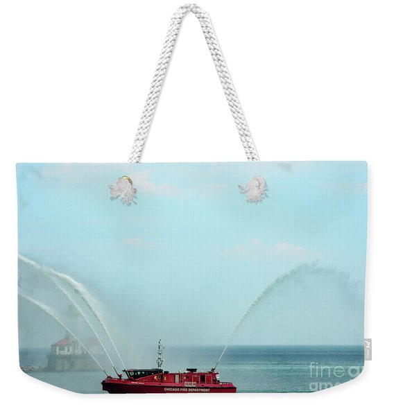 Chicago Fire Department Fireboat Weekender Tote Bag