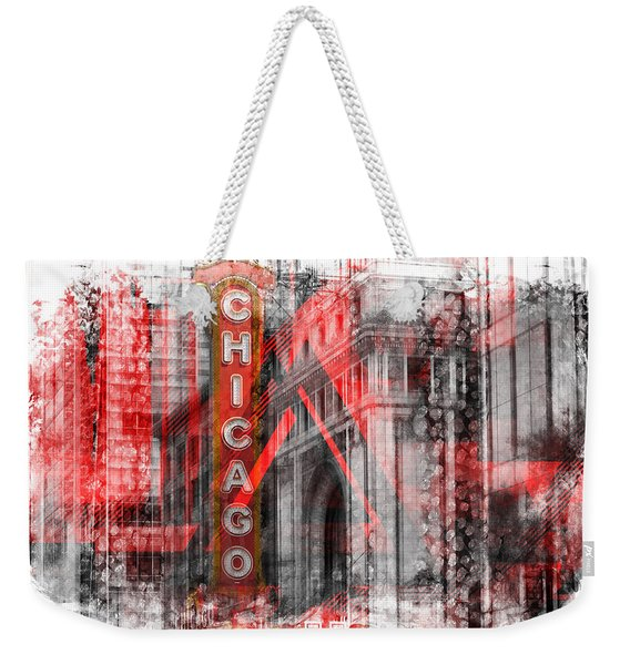 Chicago Geometric Mix No. 4 Weekender Tote Bag