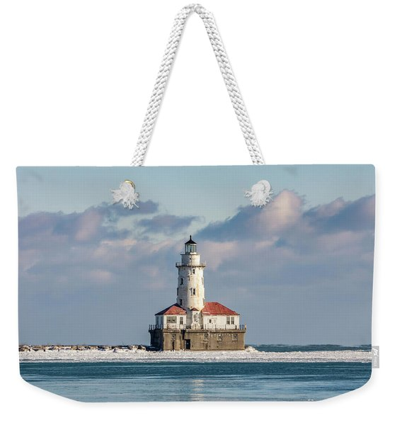 Chicago Harbor Lighthouse Weekender Tote Bag