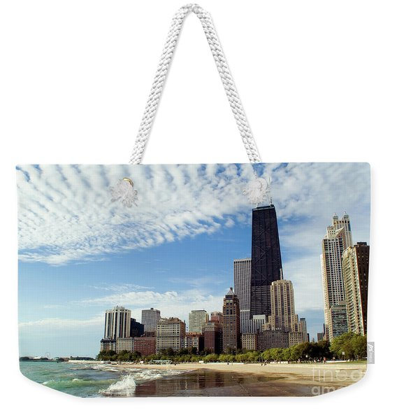 Chicago Lakefront Skyline Weekender Tote Bag