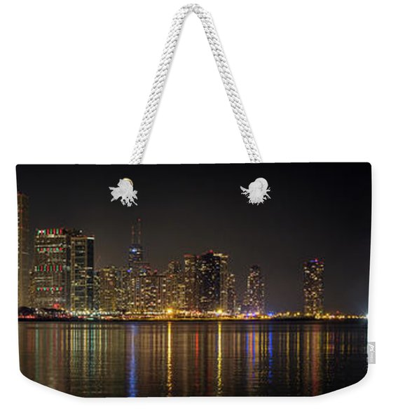 Chicago New Year Fireworks Weekender Tote Bag