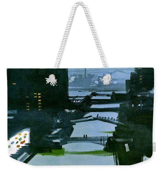 Chicago Night Weekender Tote Bag