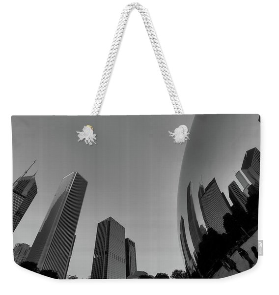 Chicago Reflections Weekender Tote Bag