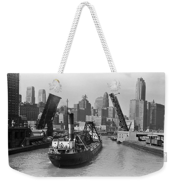 Chicago River 1941 Weekender Tote Bag