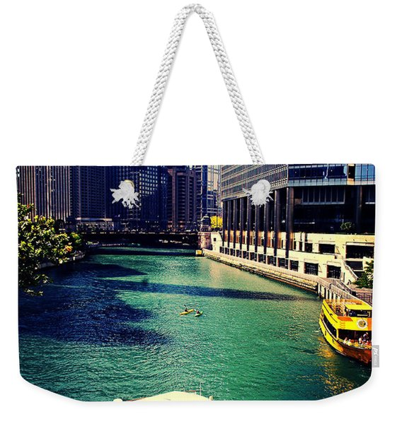 City Of Chicago - River Tour Weekender Tote Bag