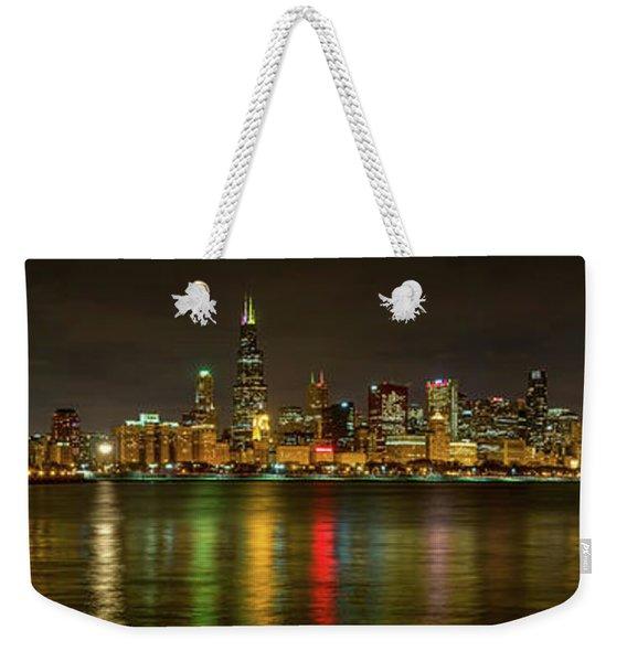 Chicago Skyline Weekender Tote Bag